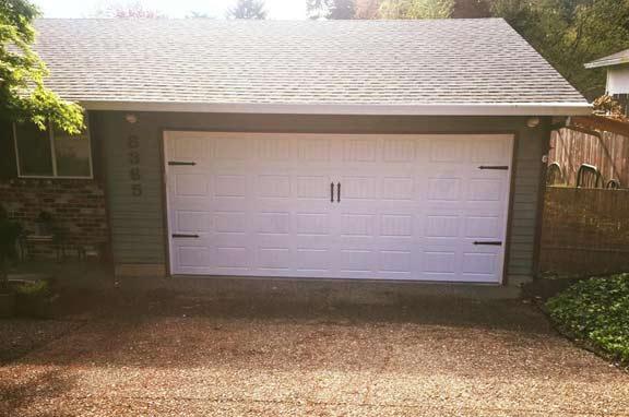 Carriage door with hinge/handles. Thank you Larry & Karen.